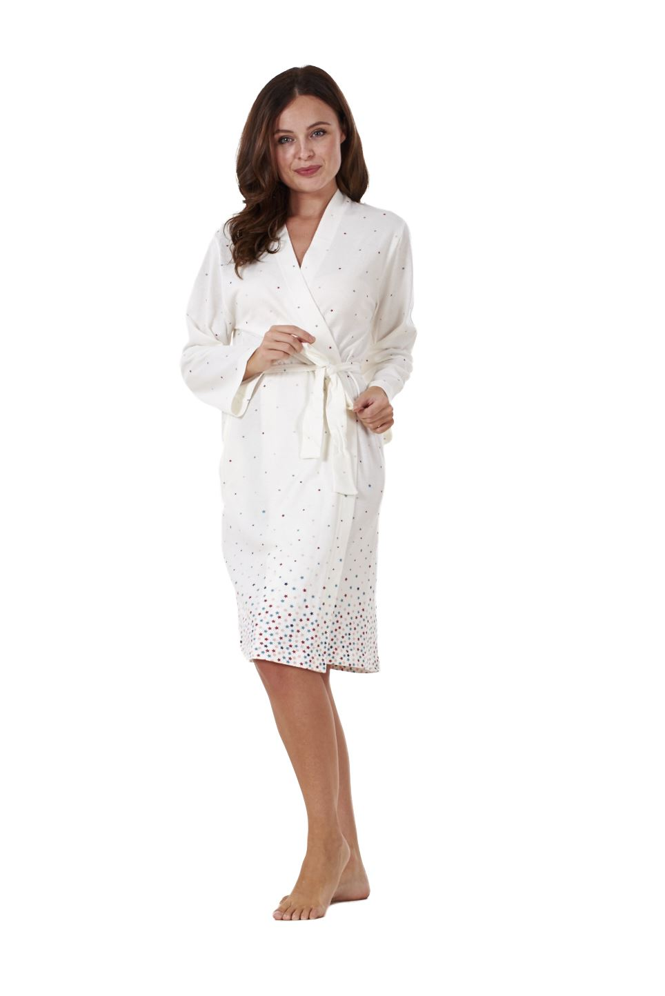 Ladies Quality Wrap Kimono 100% Cotton Printed Robe Womens Dressing ...