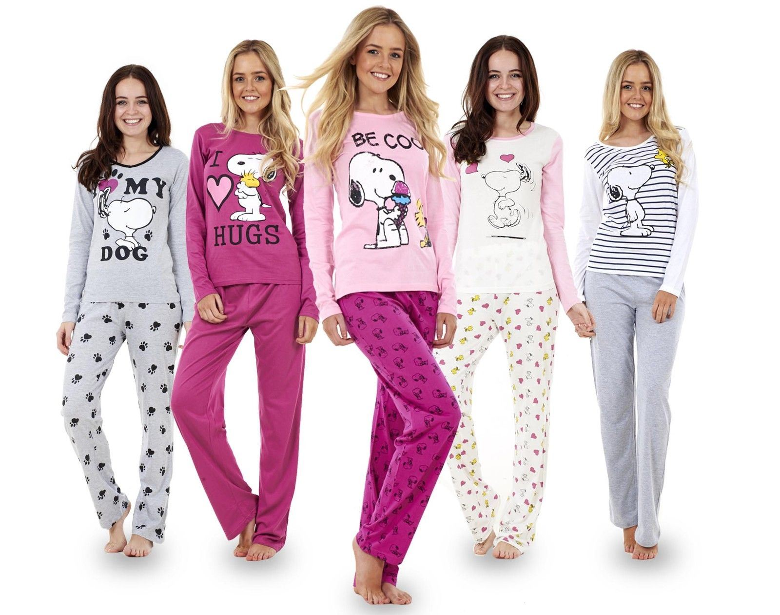 grande sélection prix bas profiter de gros rabais Details about Ladies Long Sleeve Snoopy Pyjama Set Mickey Minnie Mouse PJ's  Nightwear REDUCED!