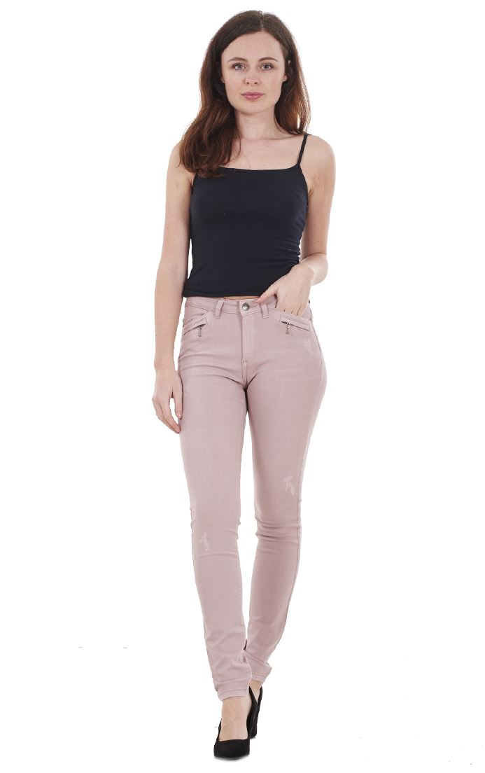 Ladies-Quality-Skinny-Jeans-Womens-Slim-Fit-Denim-Stretch miniatura 7