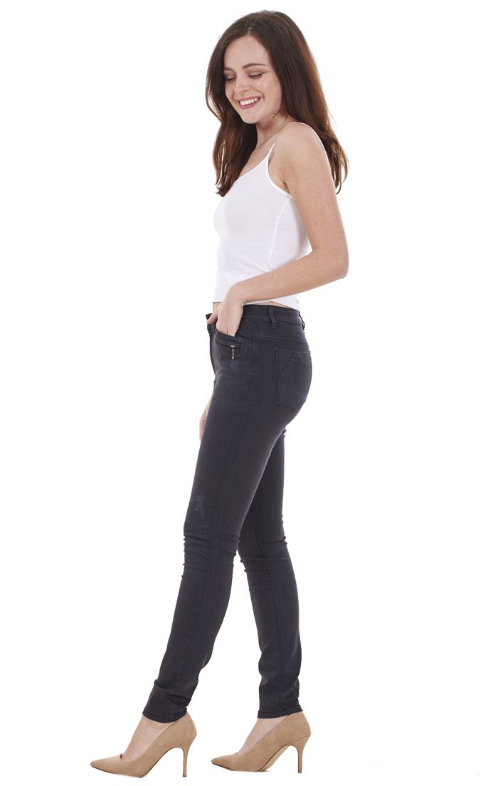 Ladies-Quality-Skinny-Jeans-Womens-Slim-Fit-Denim-Stretch miniatura 13