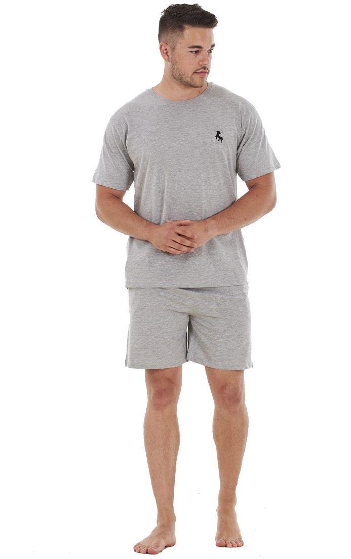 236f596a Mens Cotton T Shirt & Shorts Summer Nightwear Pyjama Lounge Set | eBay