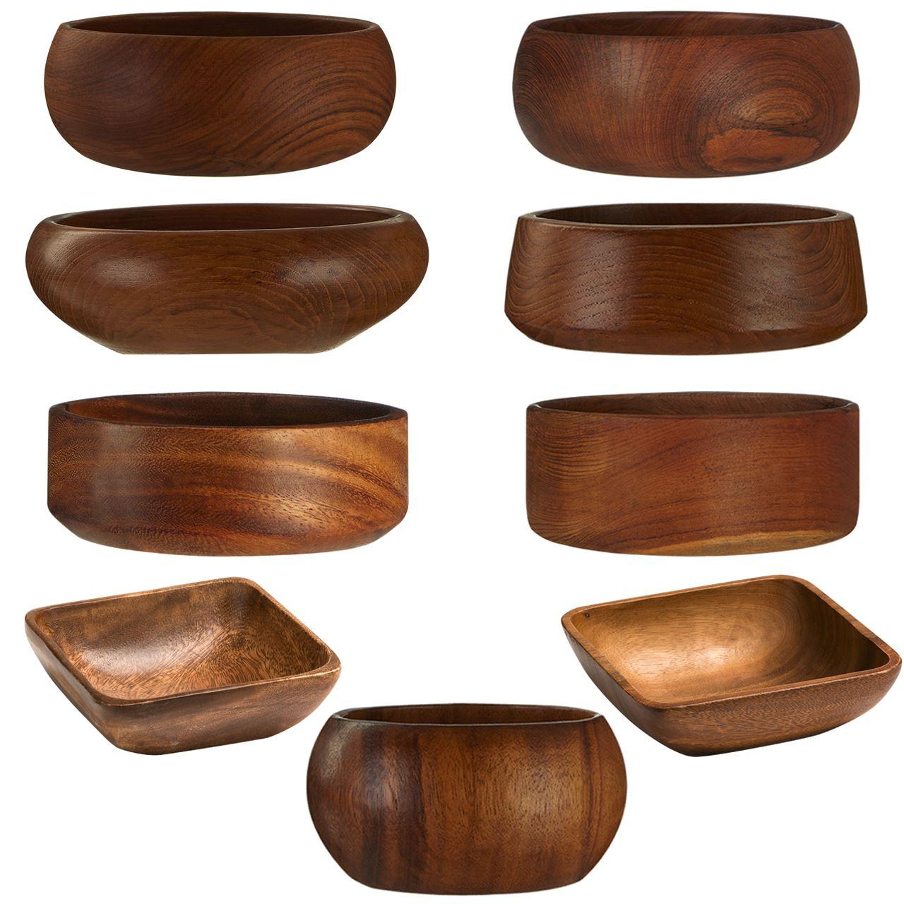 Serving Bowls Wood Ideal For Crisp Salad Serving Chips Nuts Other Party Foods Ebay