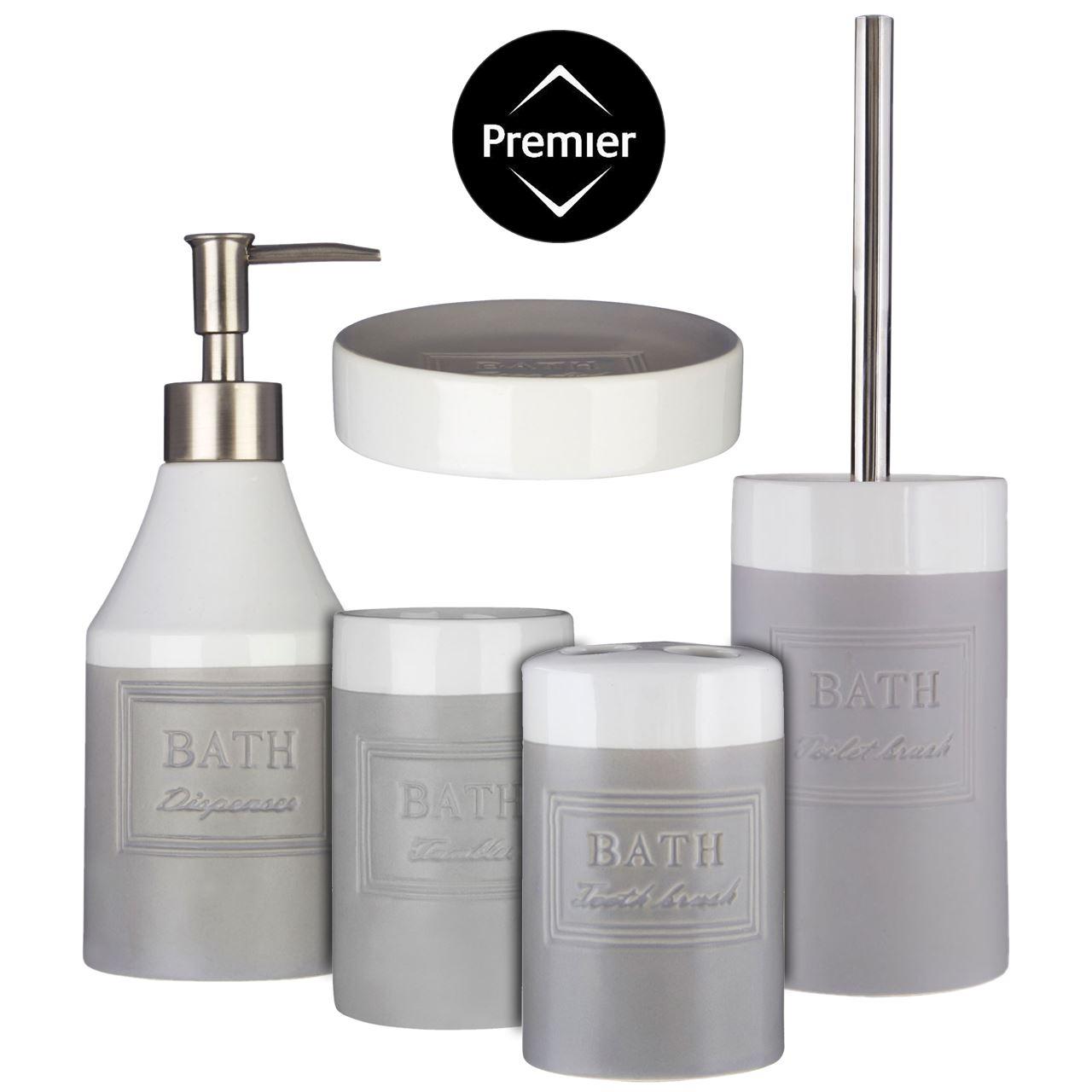 5 Pcs Bathroom Accessory Set Tumbler, Toothbrush Holder, Soap Dish ...