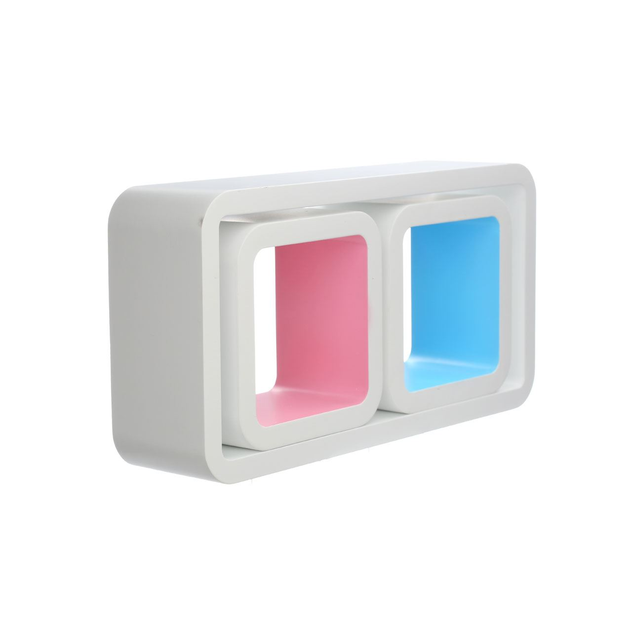 Details About Set Of 3 Wall Cubes Rectangle Square Mdf Wall Mounted Shelving Unit In 3 Colours
