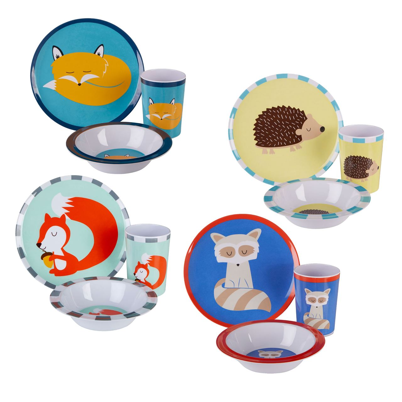 Fast Delivery  sc 1 st  eBay & Mimo Kids Dinner Set 3 Piece Scratch-resistant Plastic Plate Bowl ...