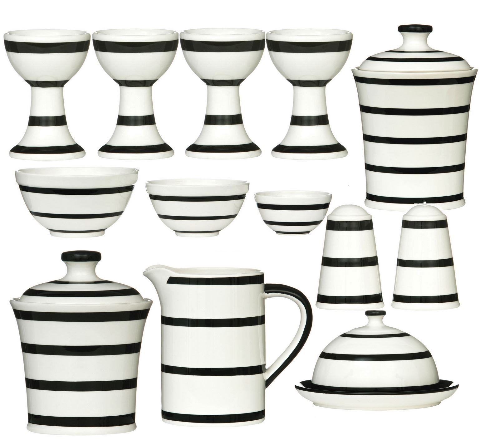 Black-Stripe-Ceramic-Dining-Kitchen-Accessories-Canister-Storage-Jar-Your-Home thumbnail 9