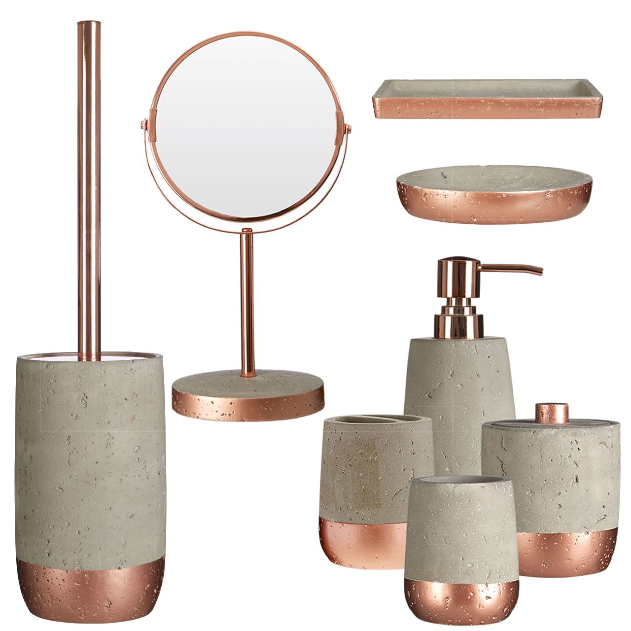 Neptune Bathroom Accessory Set 8pc Warm Copper Finish