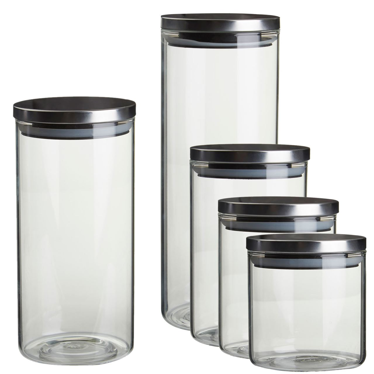 Round Glass Jars Jam Spices Sauce Food Storage Preserve