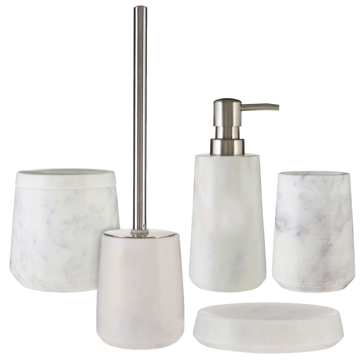 Merveilleux 5 Piece Marble Bathroom Accessories Set Soap Dish