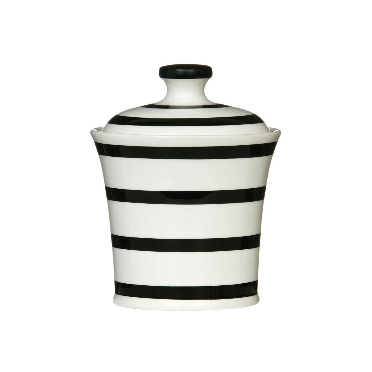 Black Stripe Ceramic Dining Kitchen Accessories Canister