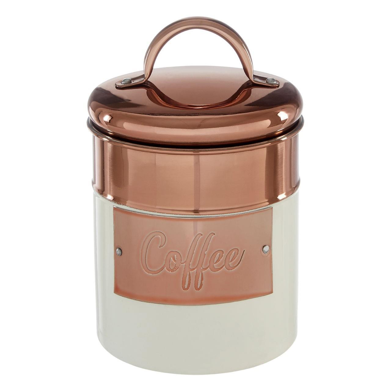 Prescott-Cream-Copper-Bread-Bin-Biscuit-Sugar-Coffee-Canister-Utensil-Holder thumbnail 15