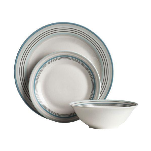 12pc-Vajilla-De-Porcelana-Cena-Comedor-Vajilla-placas-  sc 1 st  eBay & 12pc Porcelain Dinner Set (Dining Tableware Dinner/Side Plates ...