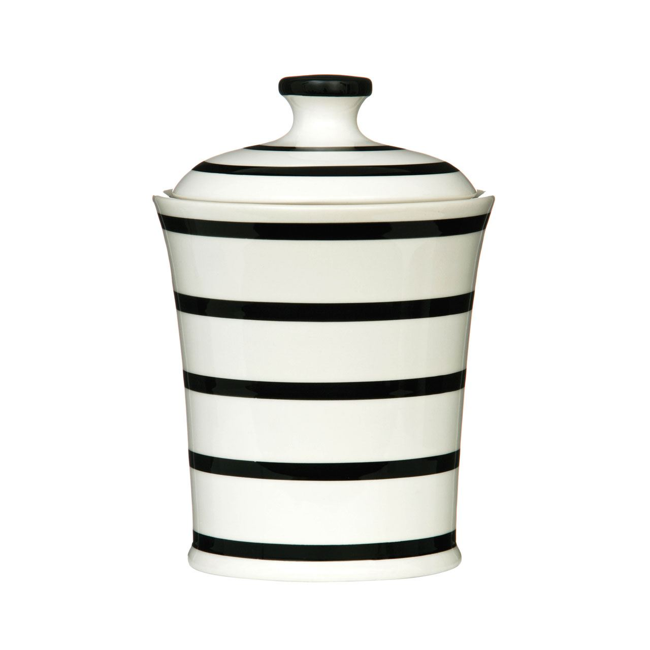 Black-Stripe-Ceramic-Dining-Kitchen-Accessories-Canister-Storage-Jar-Your-Home thumbnail 5