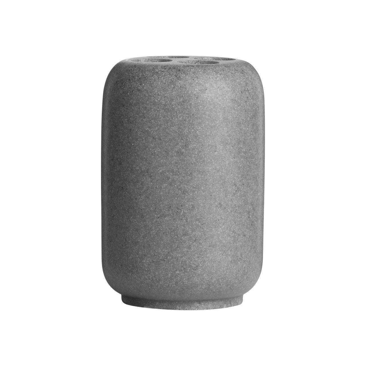 4 Piece Grey Stone Bathroom Accessory Set Tumbler