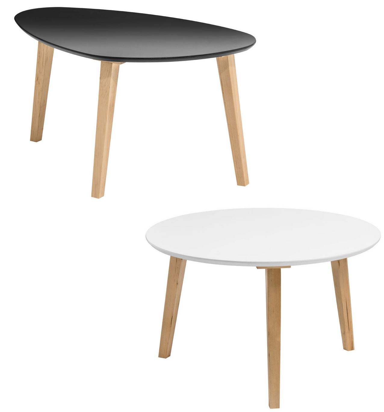 Fiesta coffee table in whiteblack top triangle rounded mdf fast delivery geotapseo Choice Image