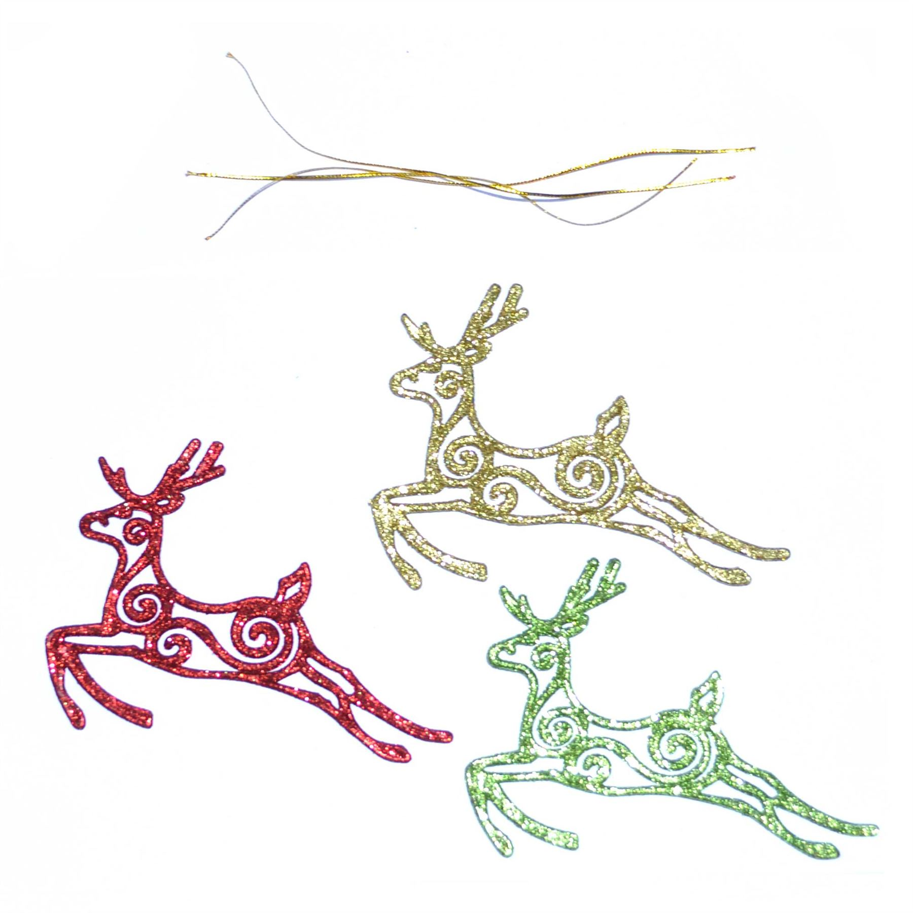 Christmas-Tree-Hanging-Decorations-Glitter-Snowman-Xmas-Beads-Chain-Garland thumbnail 7