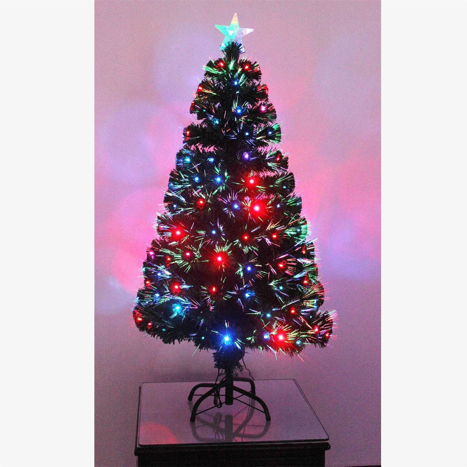 Pre Lit Led Lights Christmas Tree: Pre Lit Christmas Tree LED Fibre Optic Prelit Light Up