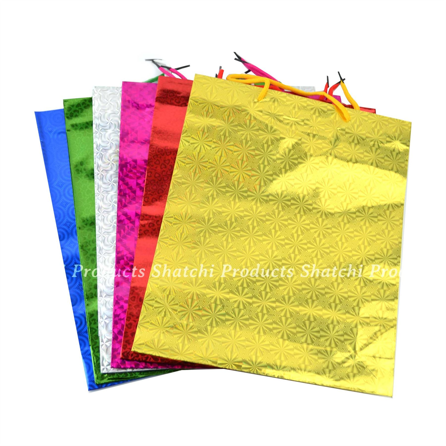 Wine Gift Bags Holographic Paper Foil Wedding Birthday