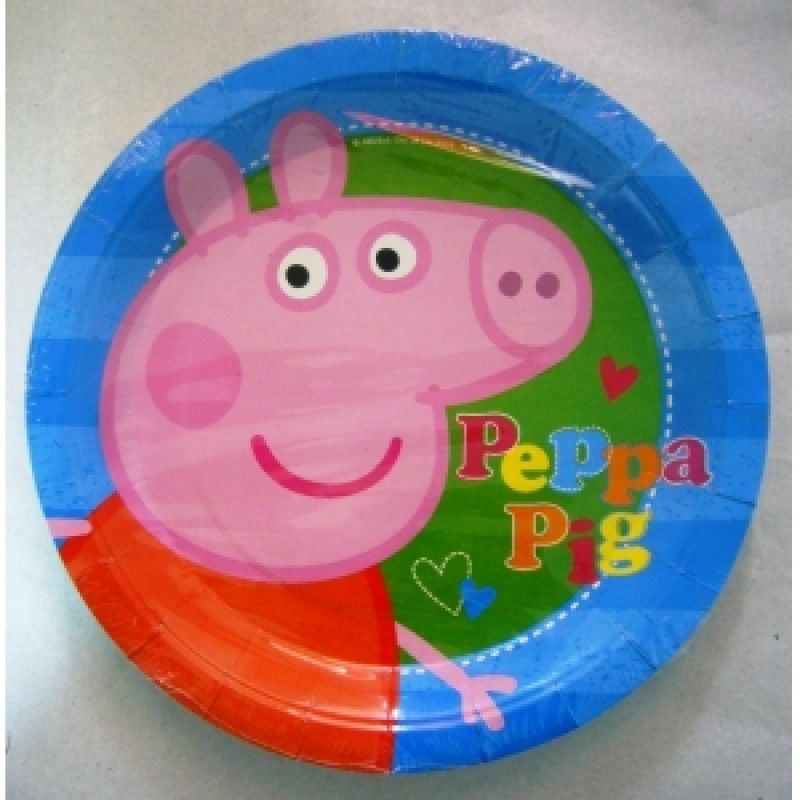 PEPPA PIG PARTY SET KIDS PARTYWARE PLATES NAPKINS CUPS BALLOONS LOOTBAGS; Picture 2 of 2  sc 1 st  eBay & Peppa Pig Kids Partyware Birthday Party Tableware Decorations Blue 8 ...