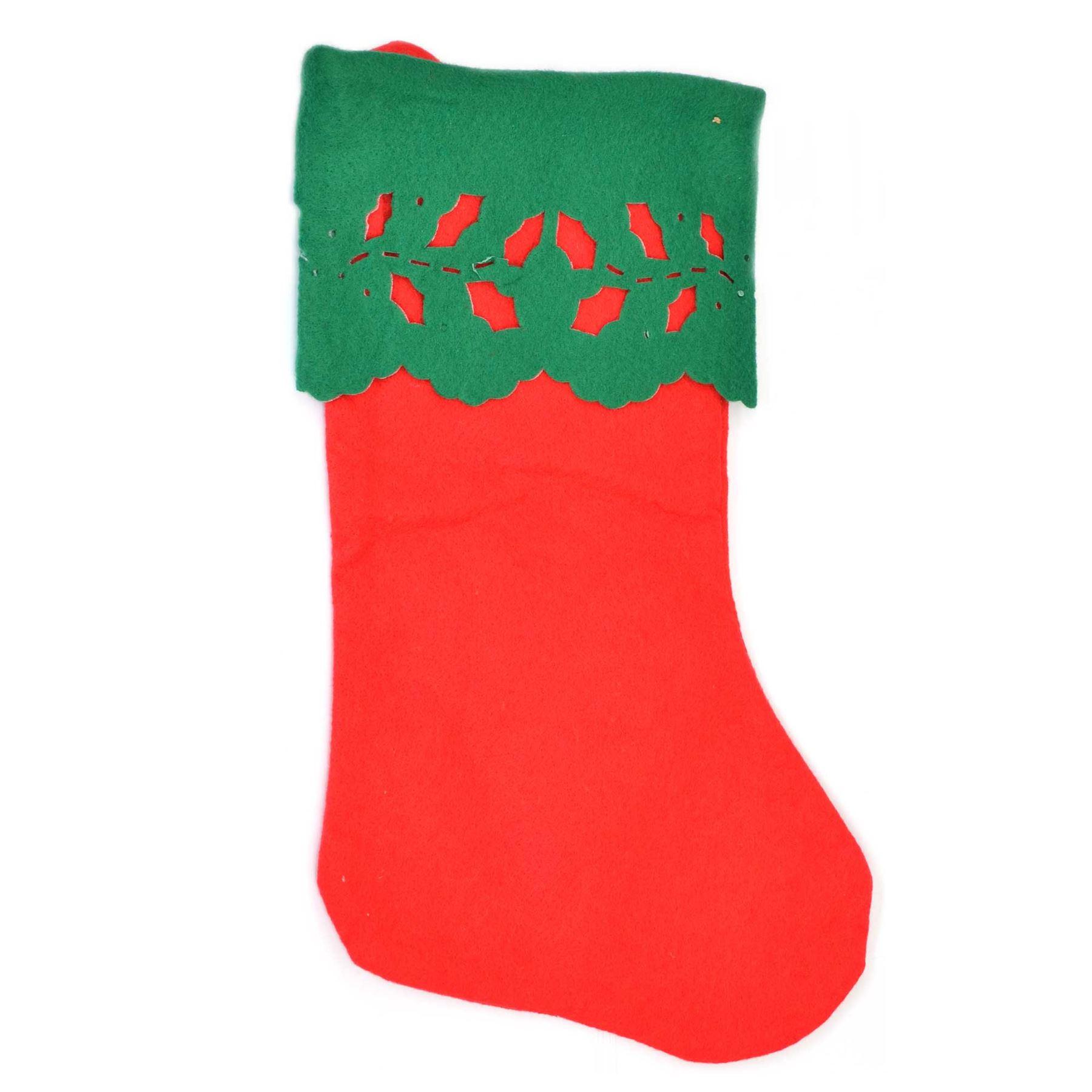 Traditional Father Christmas Santa Stockings Sack Fillers Socks Gift