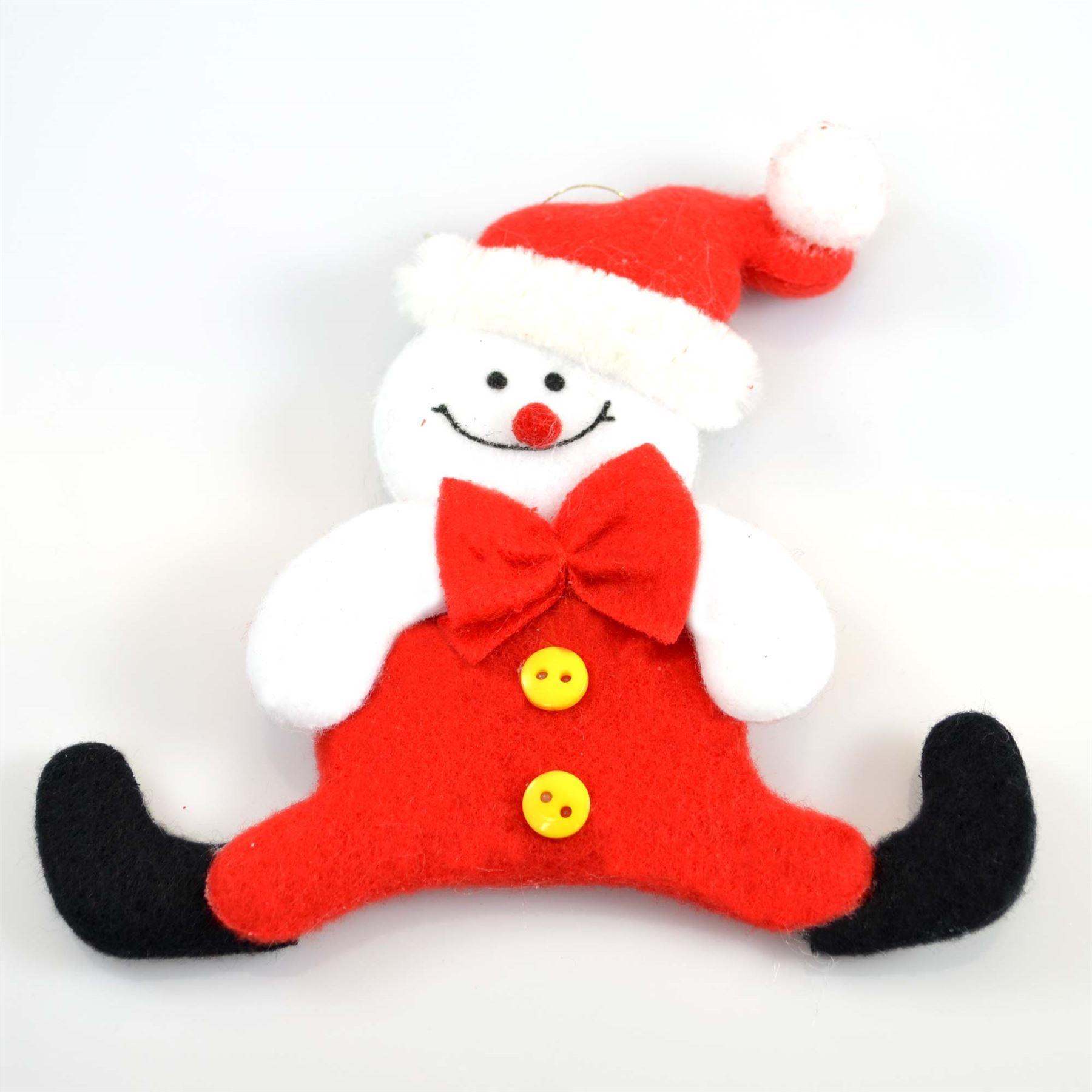 Christmas-Tree-Hanging-Decorations-Glitter-Snowman-Xmas-Beads-Chain-Garland thumbnail 25