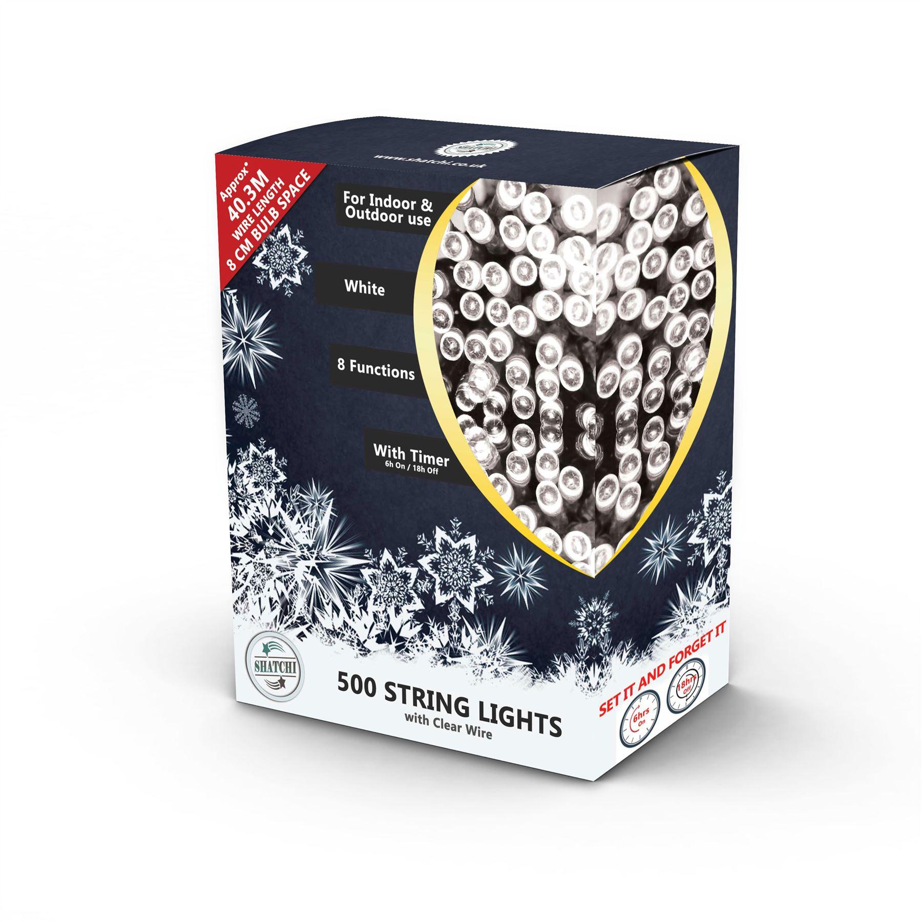 100-200-300-400-500-LED-Christmas-String-Fairy-Lights-Xmas-Decorations-Tree miniature 18