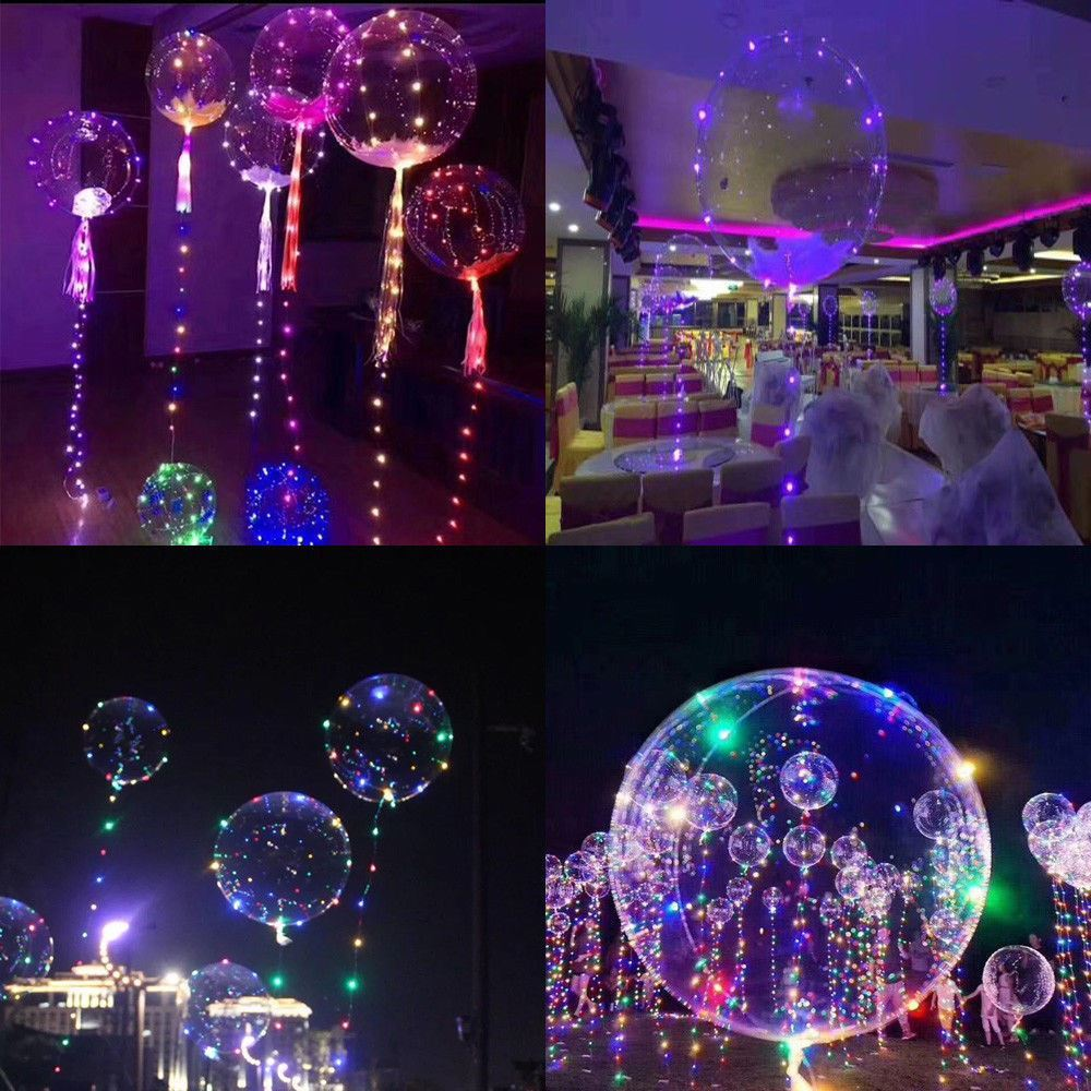 Led Decor Lights: LED Balloons Clear String Lights Helium Wedding Birthday