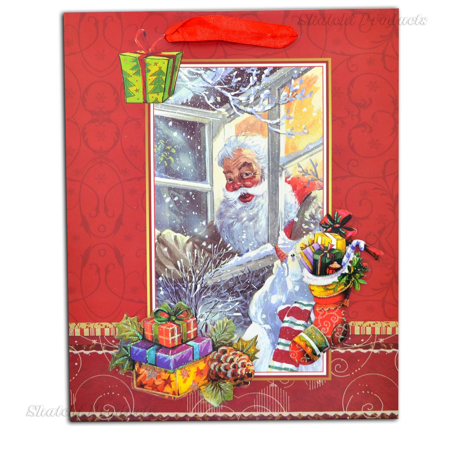 Details about CHRISTMAS GIFT BAGS LUXURY STYLE DECORATIVE SMALL | LARGE | MEDIUM ALL OCCASIONS