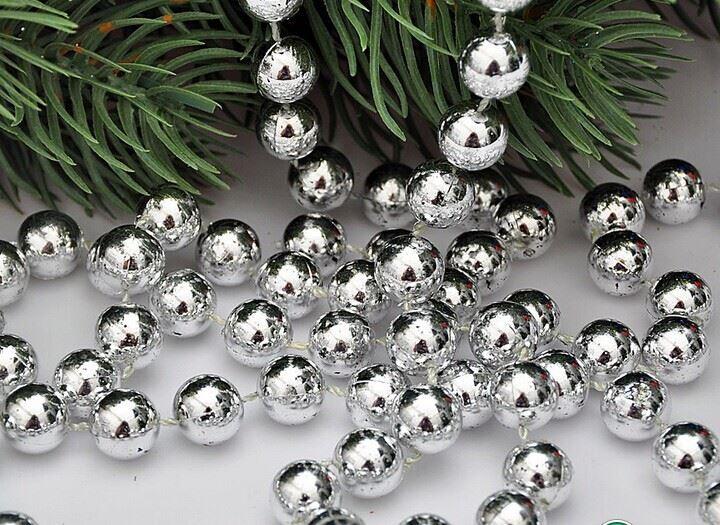 24FT-8M-Perline-a-Sfera-Catena-Ghirlanda-per-albero-di-Natale-da-appendere-DECORAZIONI-NATALE-NOZZE miniatura 9