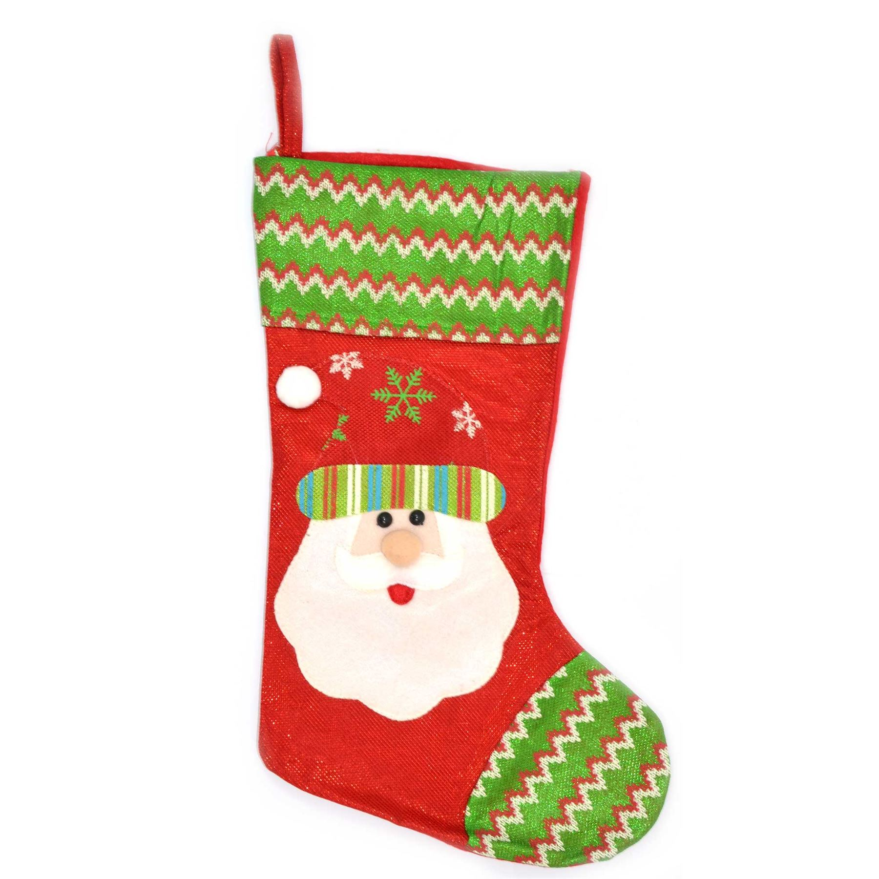 Traditional Father Christmas Santa Stockings Sack Fillers