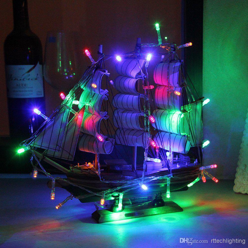 20-40-50-80-100-Batterie-DEL-Fairy-Lights-String-Fete-de-mariage-Decorations-Cuivre miniature 6