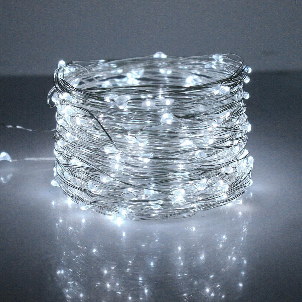 20-40-50-80-100-Batterie-DEL-Fairy-Lights-String-Fete-de-mariage-Decorations-Cuivre miniature 26