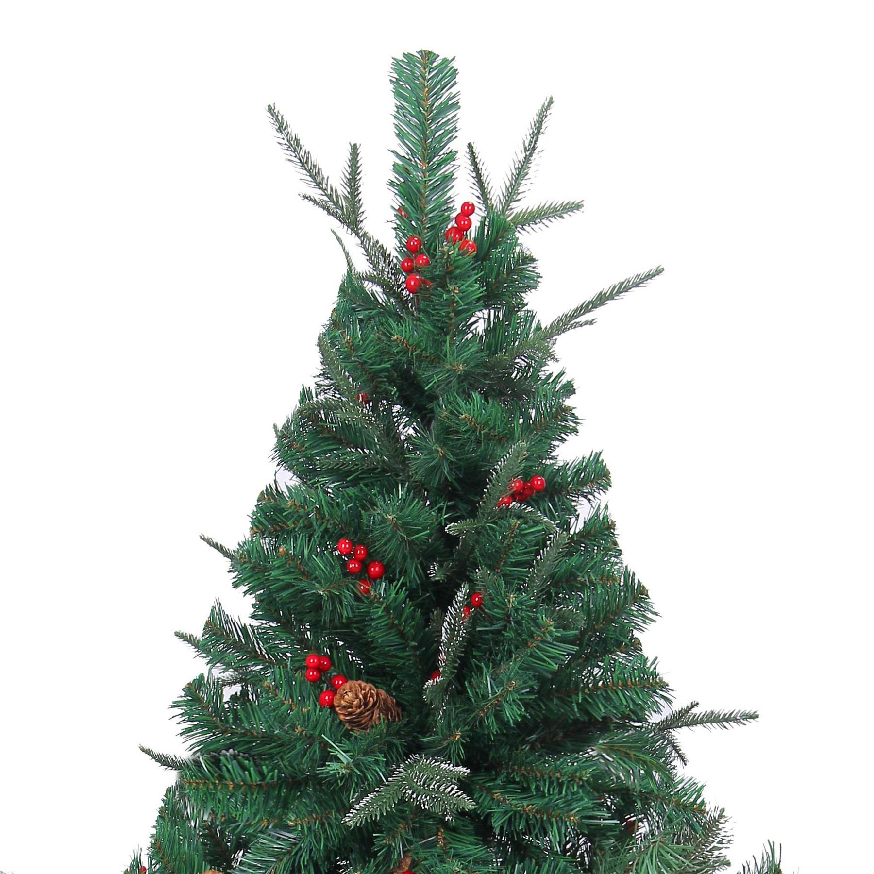 Artificial Christmas Tree With Pine Cones: REALISTIC Artificial Christmas Tree Pre Decorated Pine