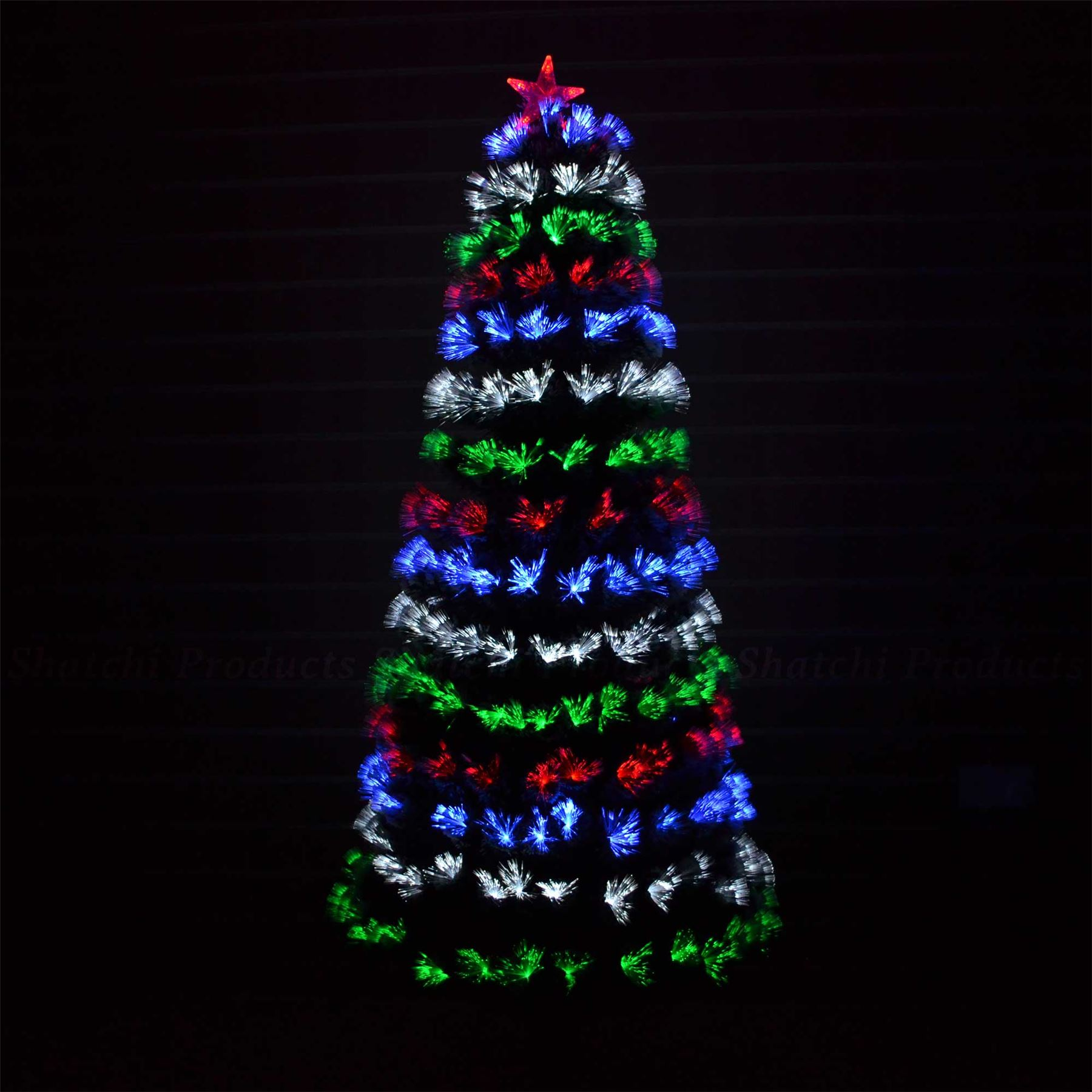 led fibre optic christmas tree pre lit xmas