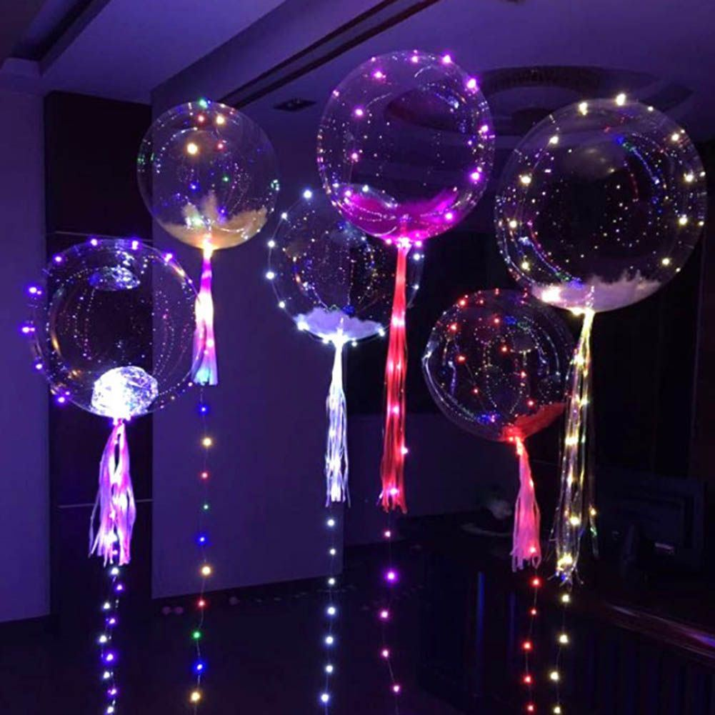LED Balloons Clear String Lights Helium Wedding Birthday