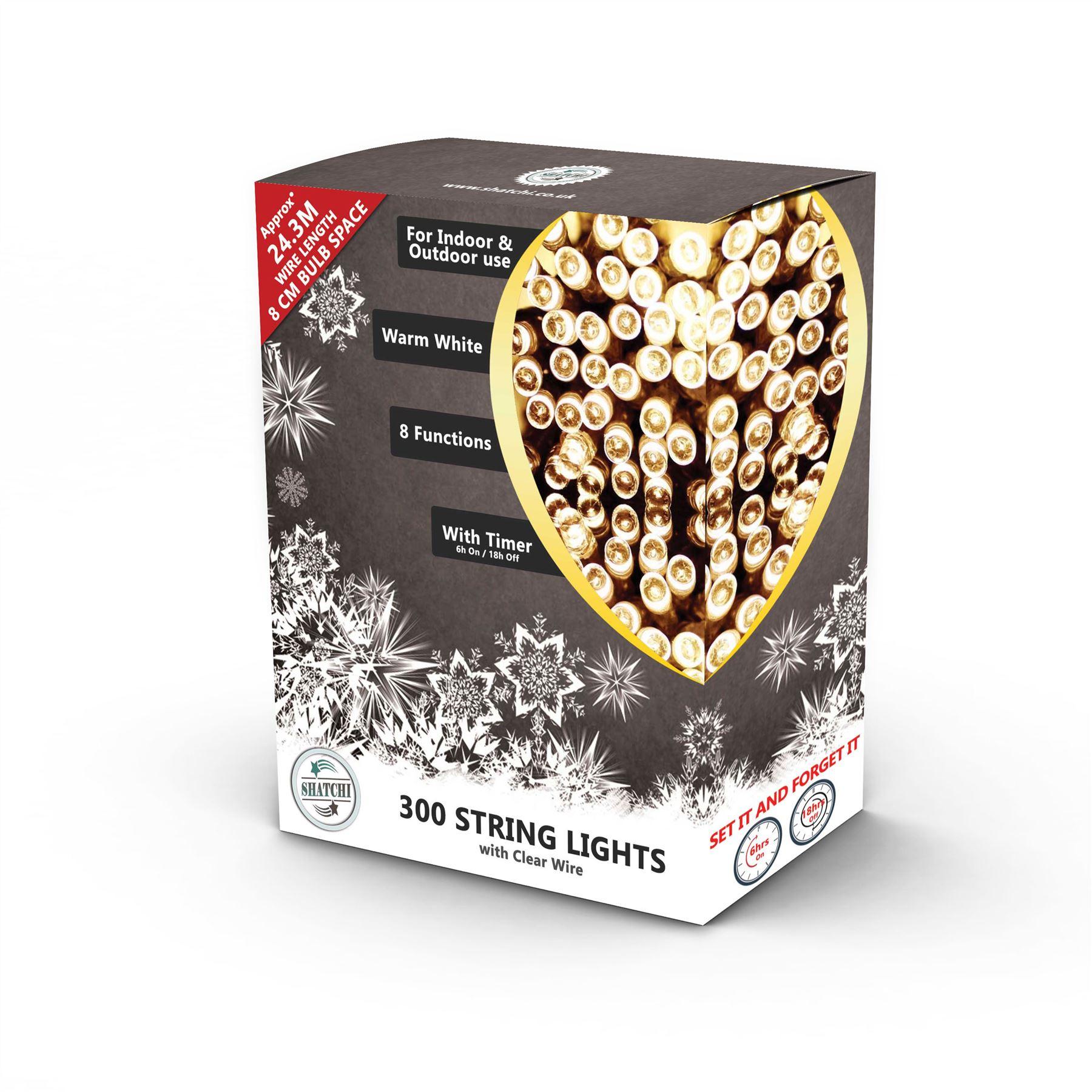 100-200-300-400-500-LED-Christmas-String-Fairy-Lights-Xmas-Decorations-Tree miniature 13