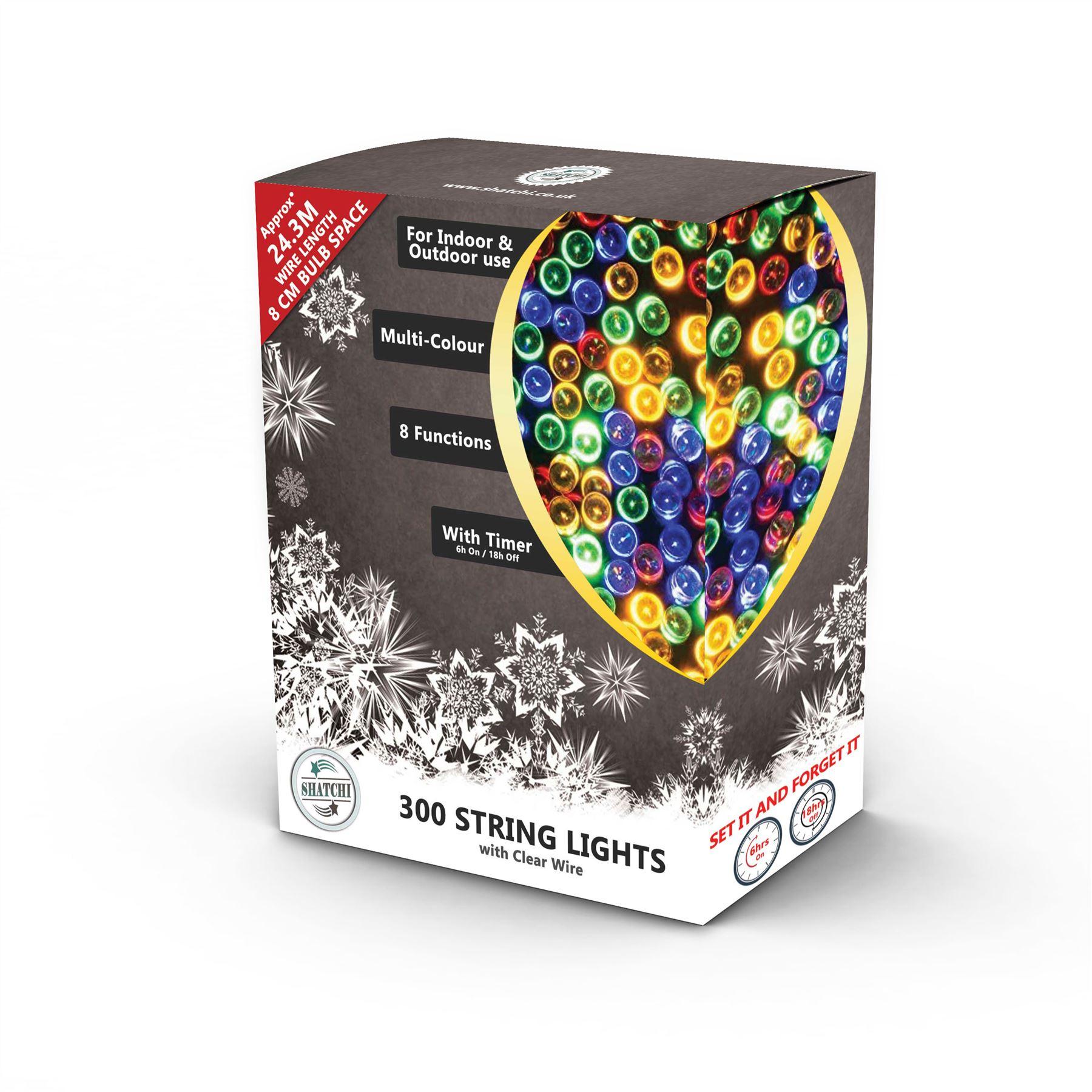 100-200-300-400-500-LED-Christmas-String-Fairy-Lights-Xmas-Decorations-Tree miniature 27