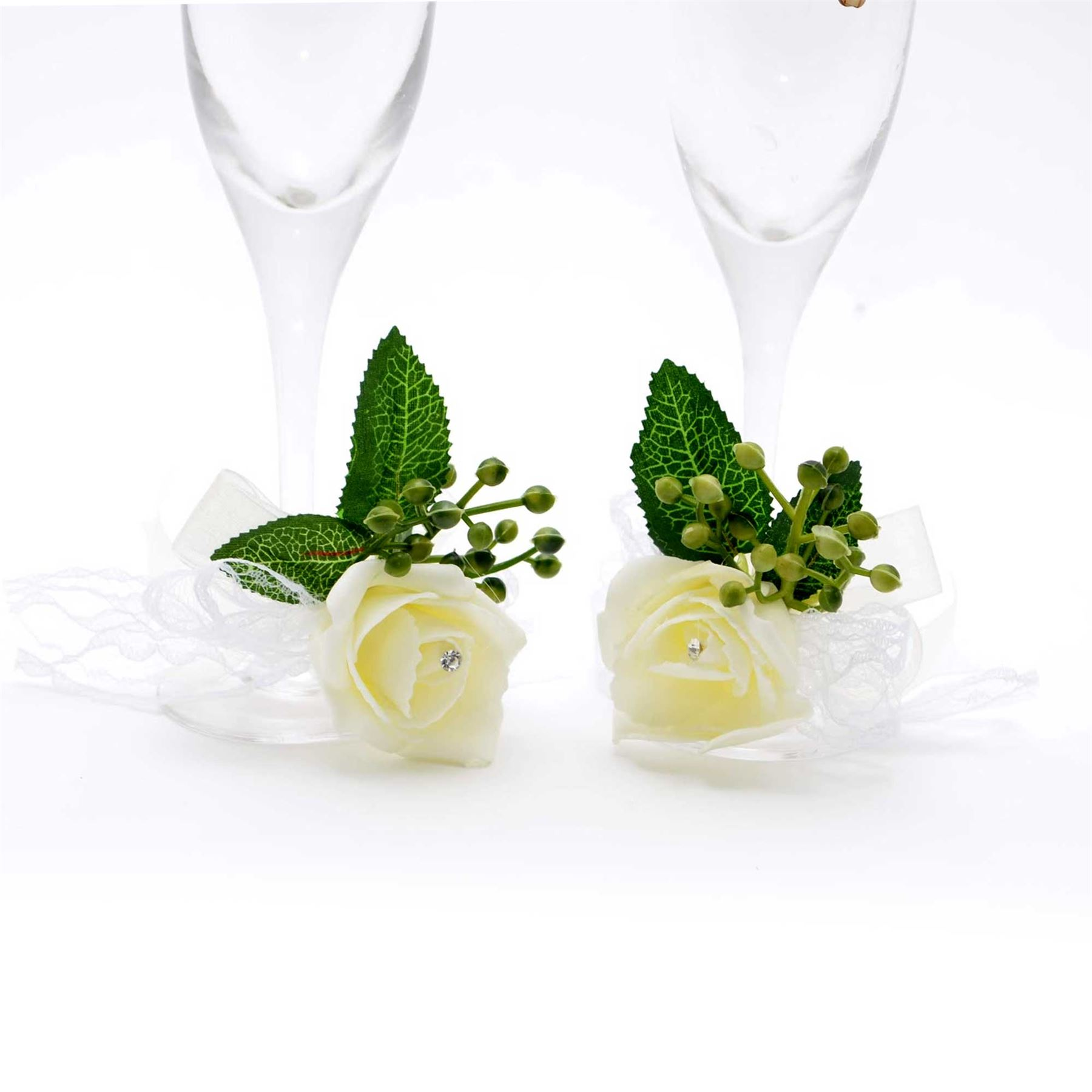 Bride-amp-Groom-Mr-Mrs-Champagne-Glasses-Flutes-Toasting-Wedding-Decorations-Gifts thumbnail 4