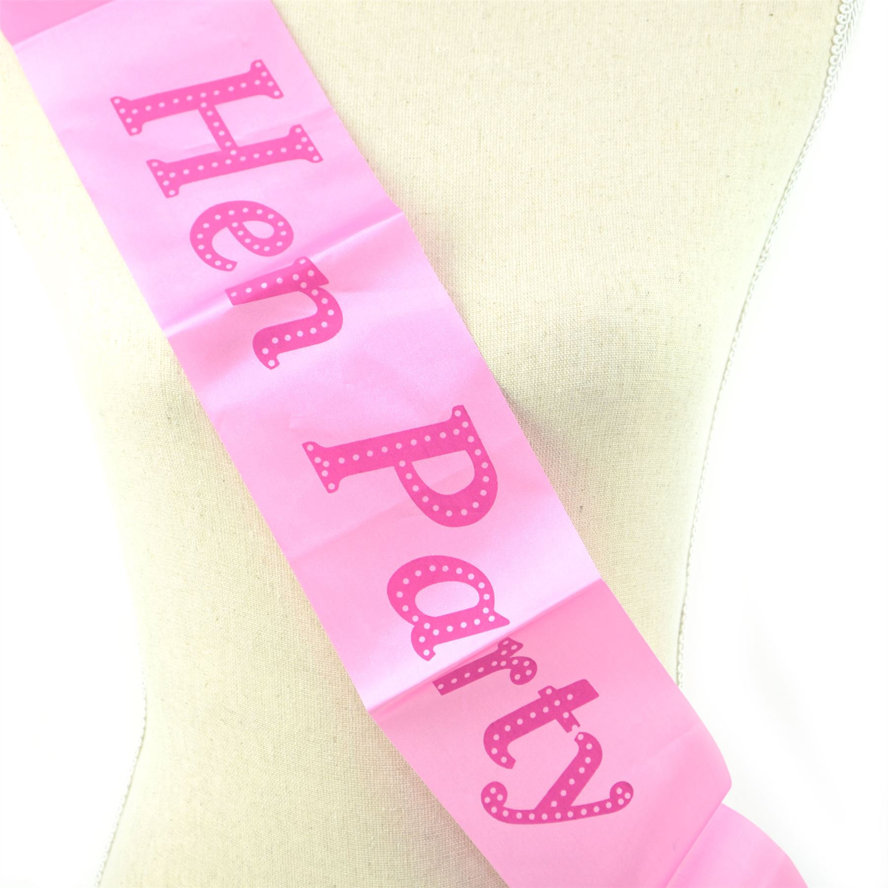 Purple Luxury Hen Night Do Party Sashes Bride To Be Bridesmaid Mother Maid Sash