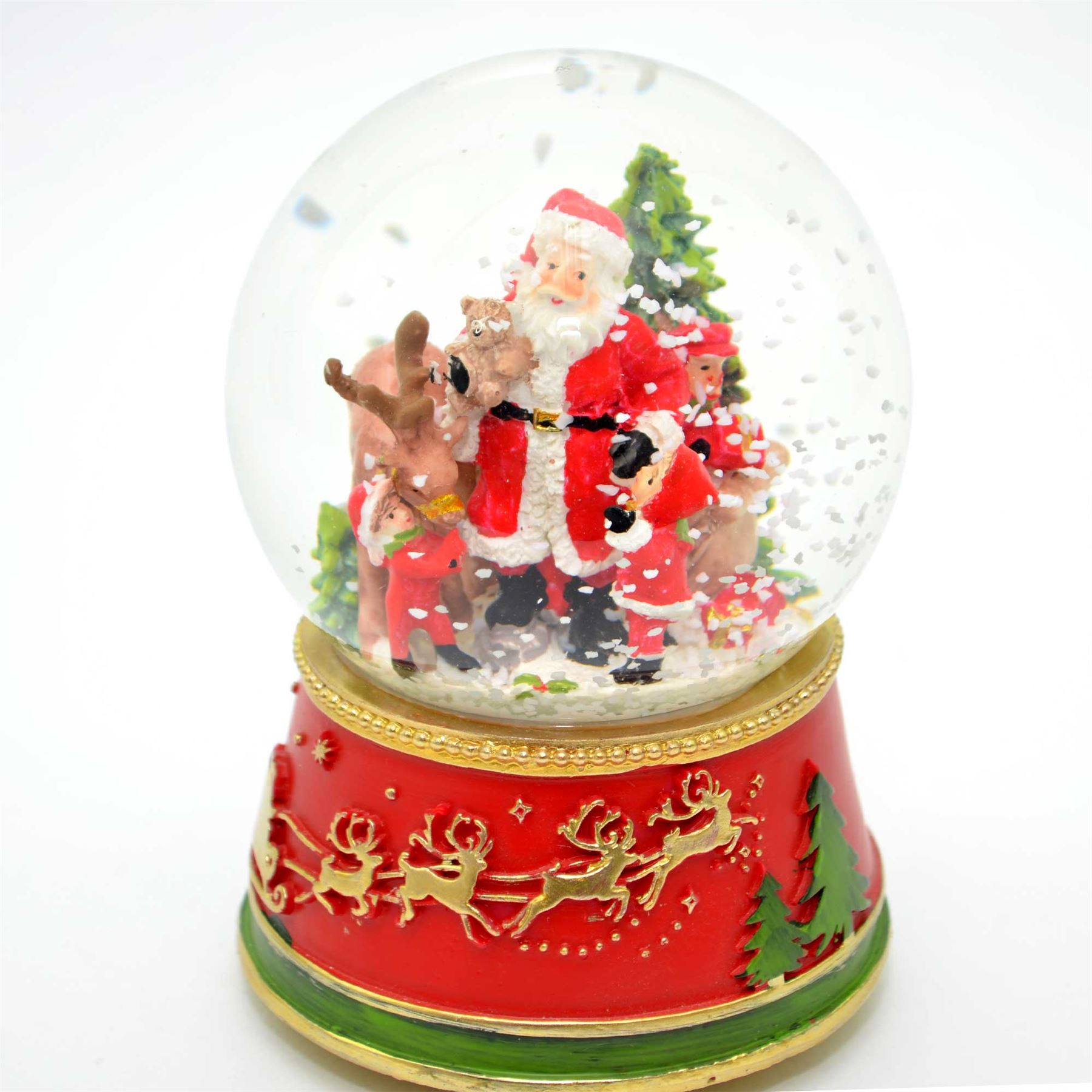 Details About Musical Christmas Snow Globes Train Xmas Decorations Home Traditional Gifts