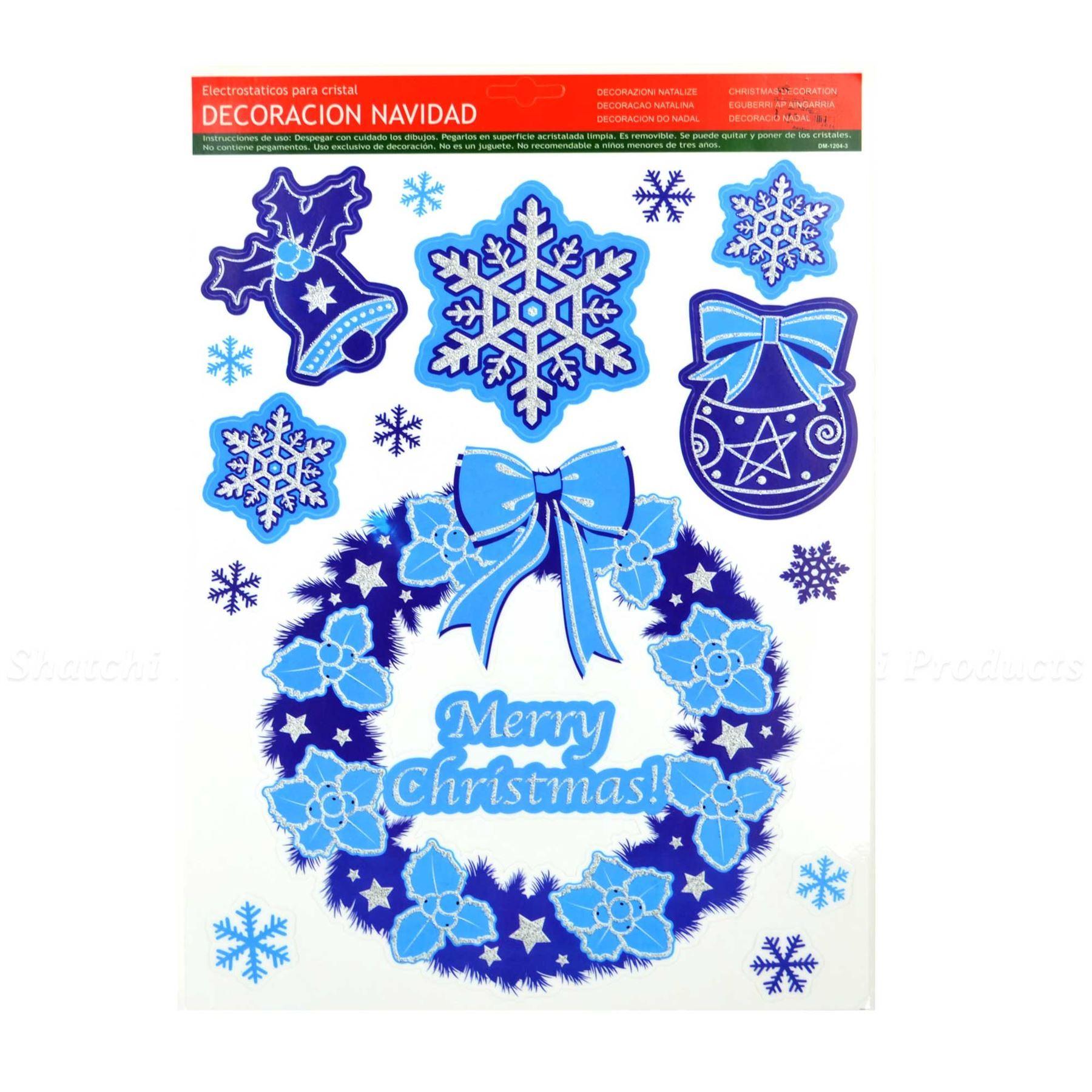 Christmas Window Stickers Snowflakes Decorations Xmas Home Decor