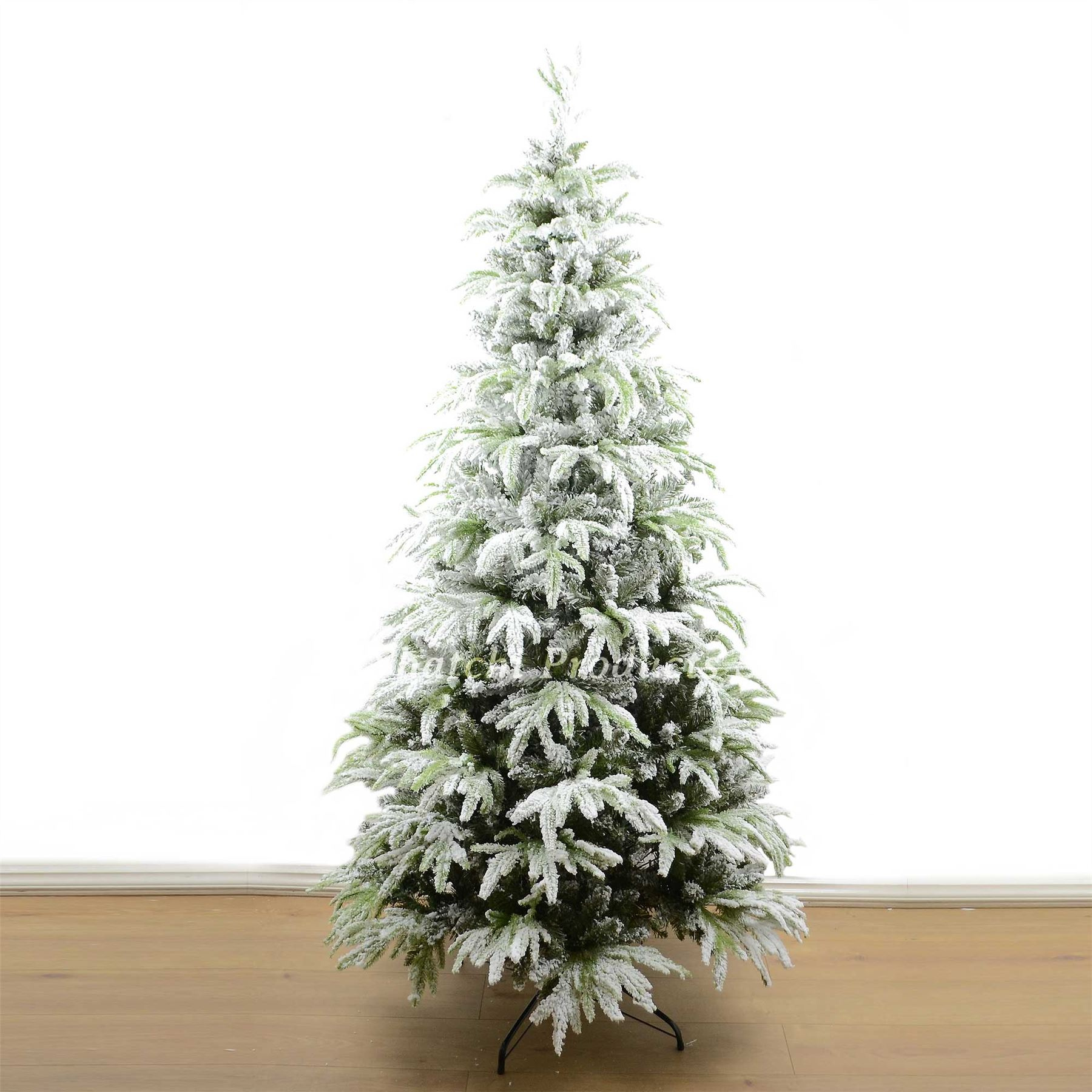 Real Or Fake Christmas Tree: Real Look Designer Artificial Christmas Tree Snow Covered