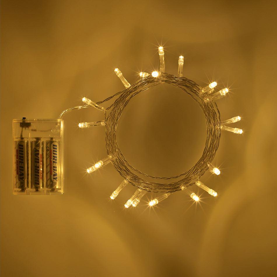 20-40-50-80-100-Batterie-DEL-Fairy-Lights-String-Fete-de-mariage-Decorations-Cuivre miniature 17