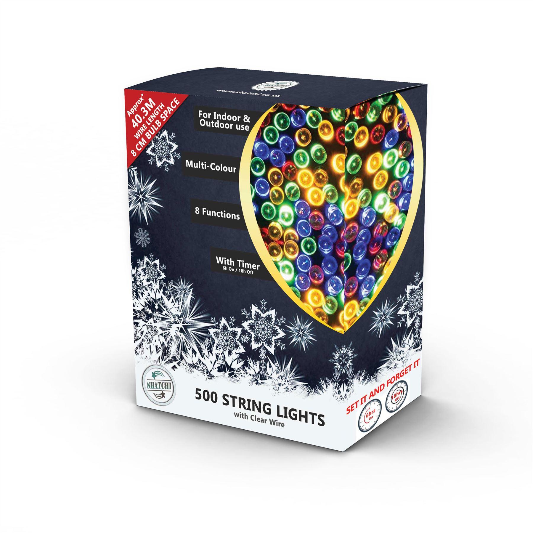 100-200-300-400-500-LED-Christmas-String-Fairy-Lights-Xmas-Decorations-Tree miniature 35