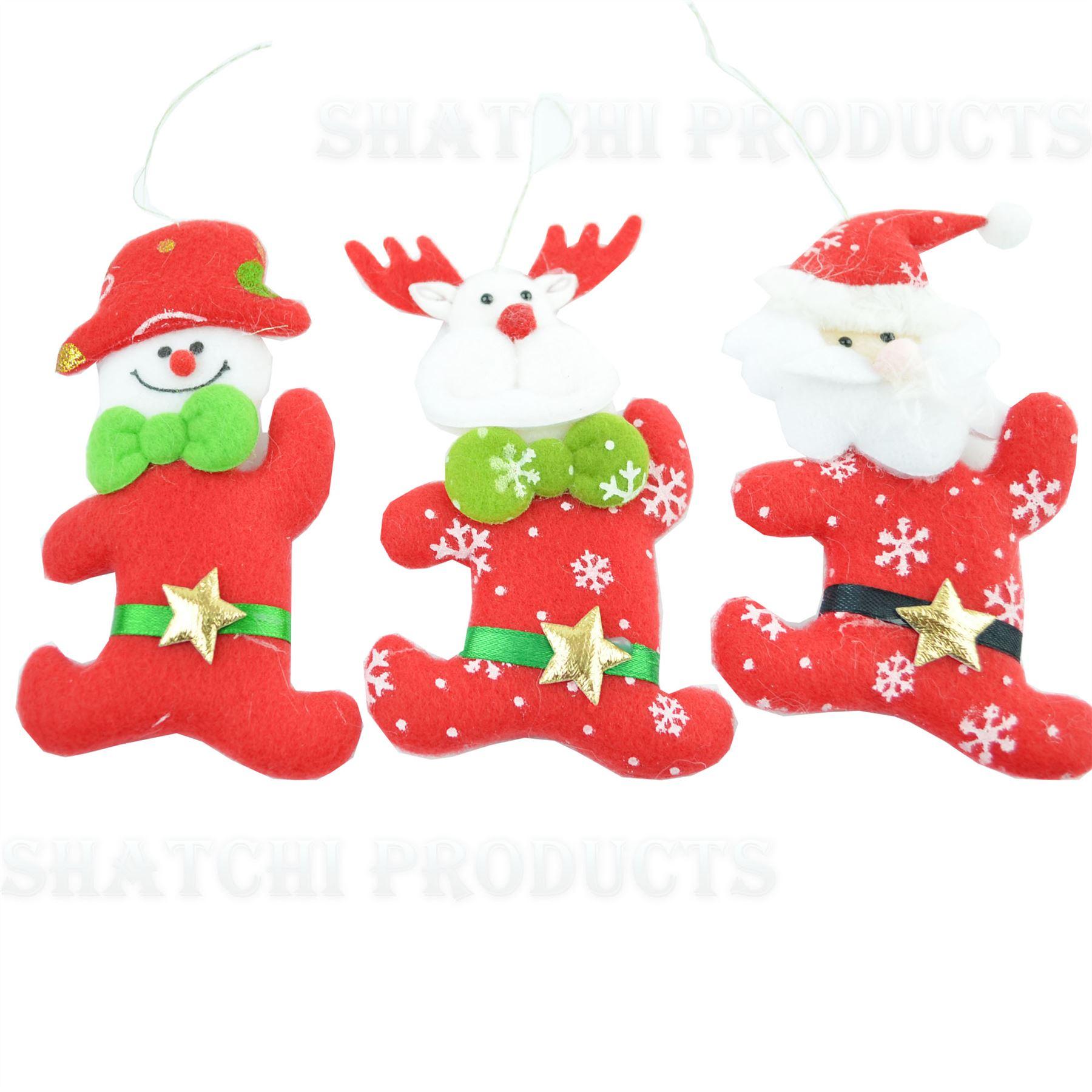 Christmas-Tree-Hanging-Decorations-Glitter-Snowman-Xmas-Beads-Chain-Garland thumbnail 21