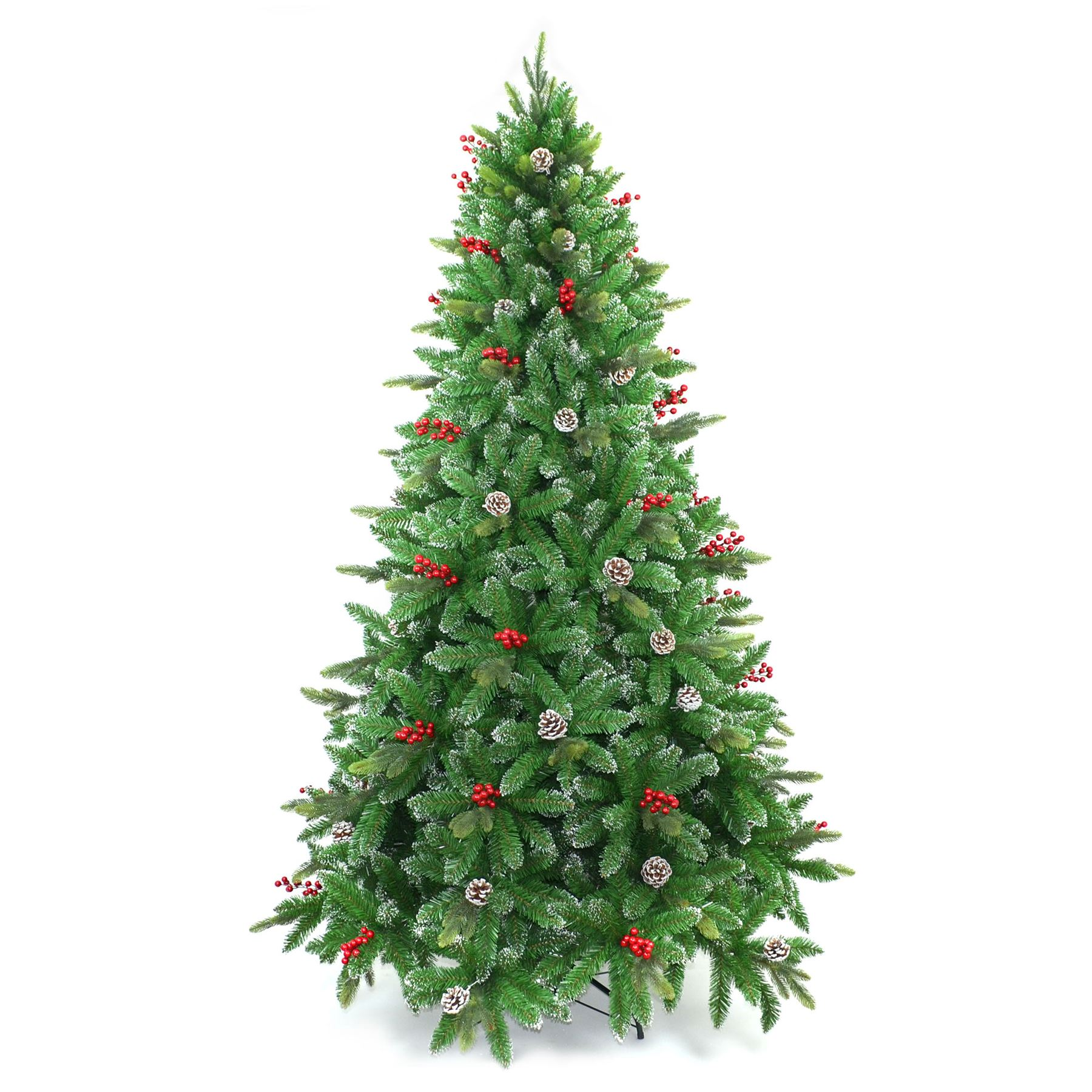 Christmas tree pre lit decorated garland wreath xmas home Garland tree decoration