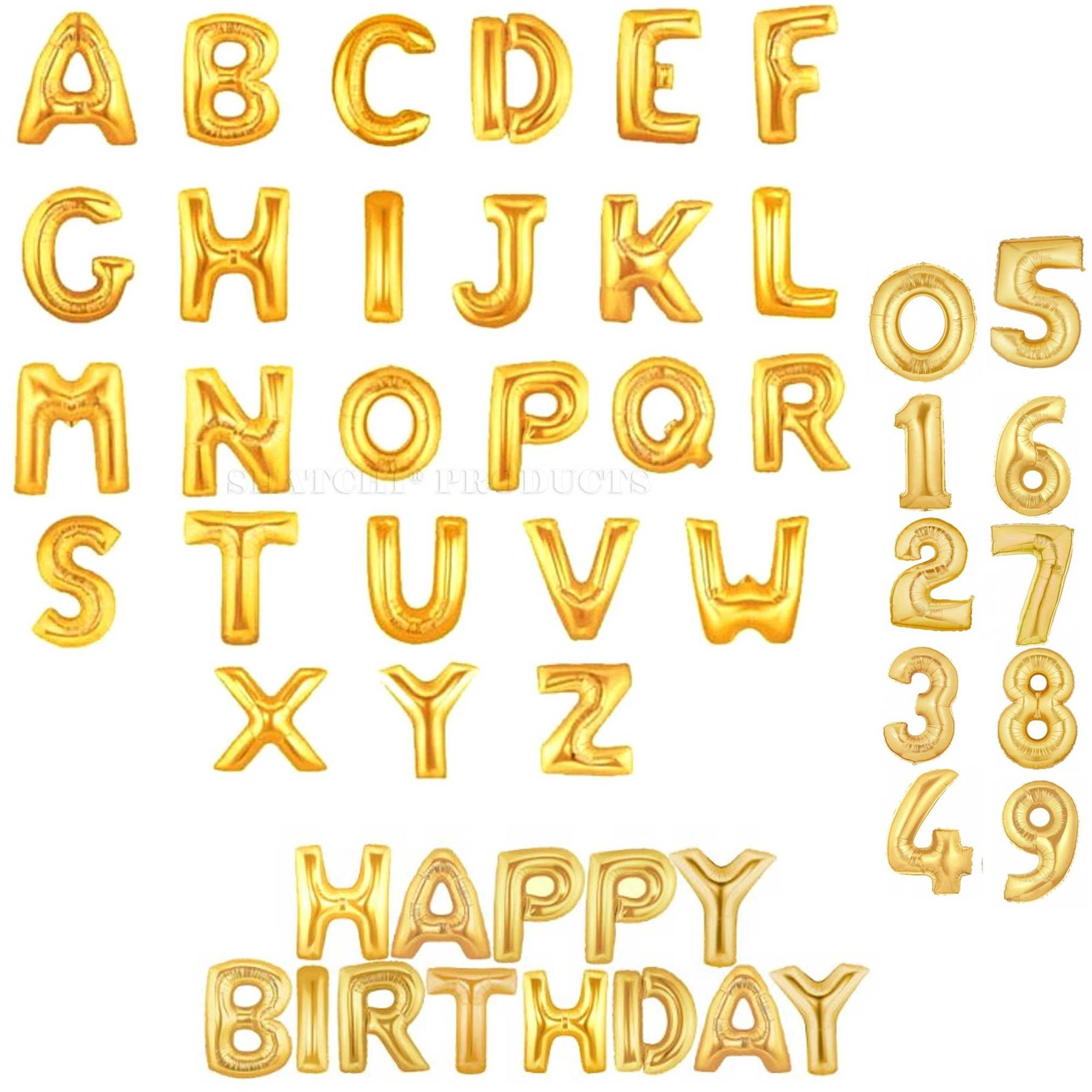 751cfd591545d Foil Balloons Alphabet Letter Birthday Wedding Banner Bunting Party  Decorations Gold Number 8