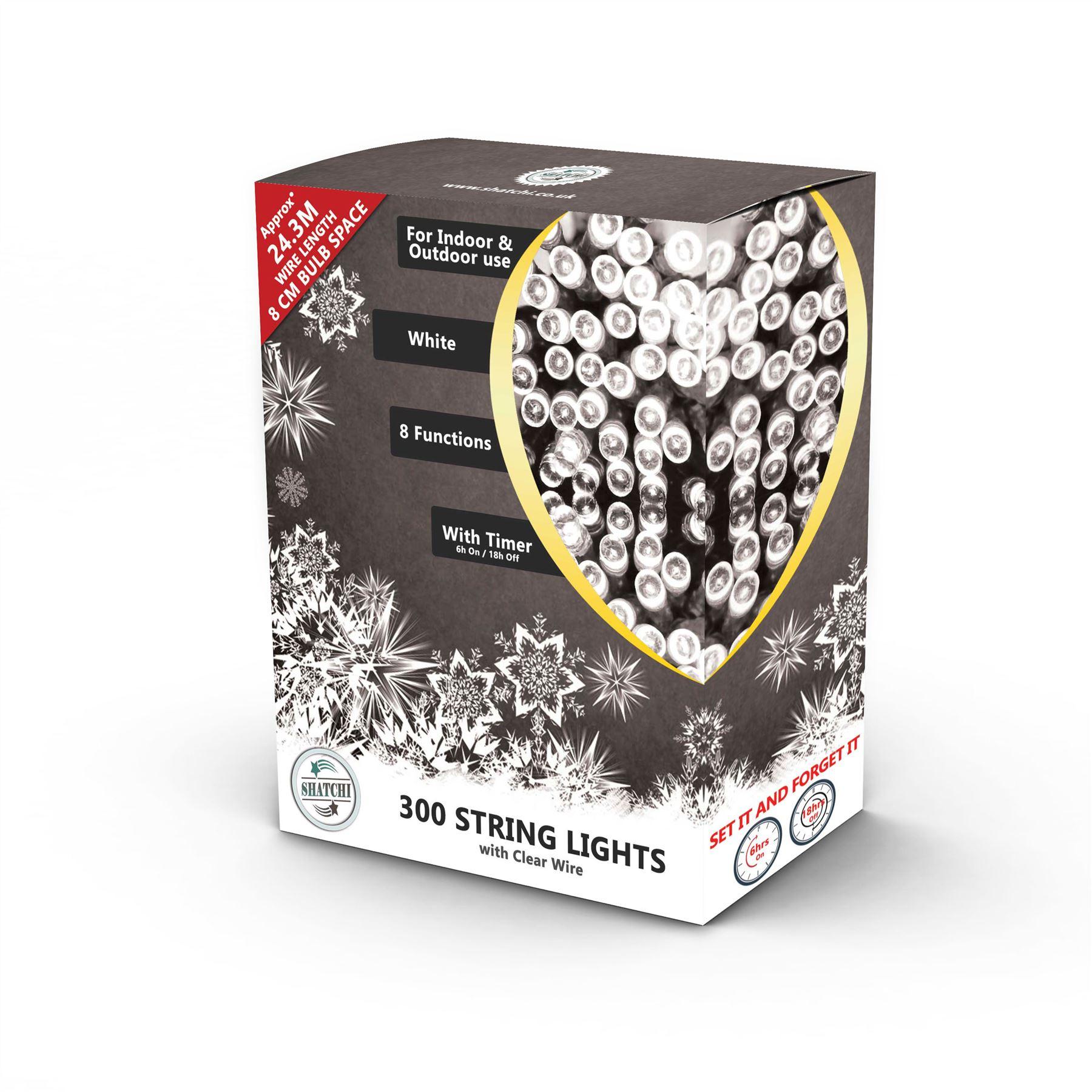 100-200-300-400-500-LED-Christmas-String-Fairy-Lights-Xmas-Decorations-Tree miniature 20