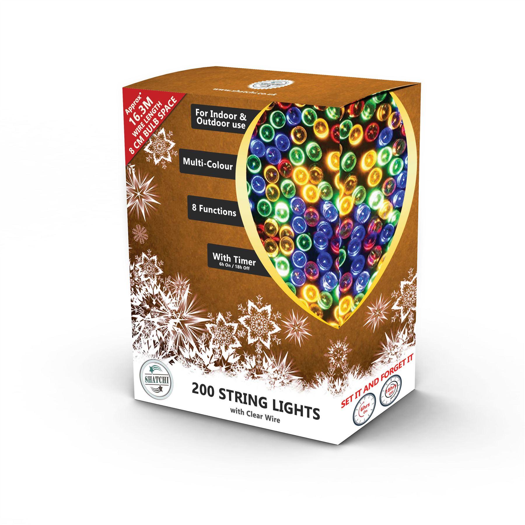 100-200-300-400-500-LED-Christmas-String-Fairy-Lights-Xmas-Decorations-Tree miniature 26