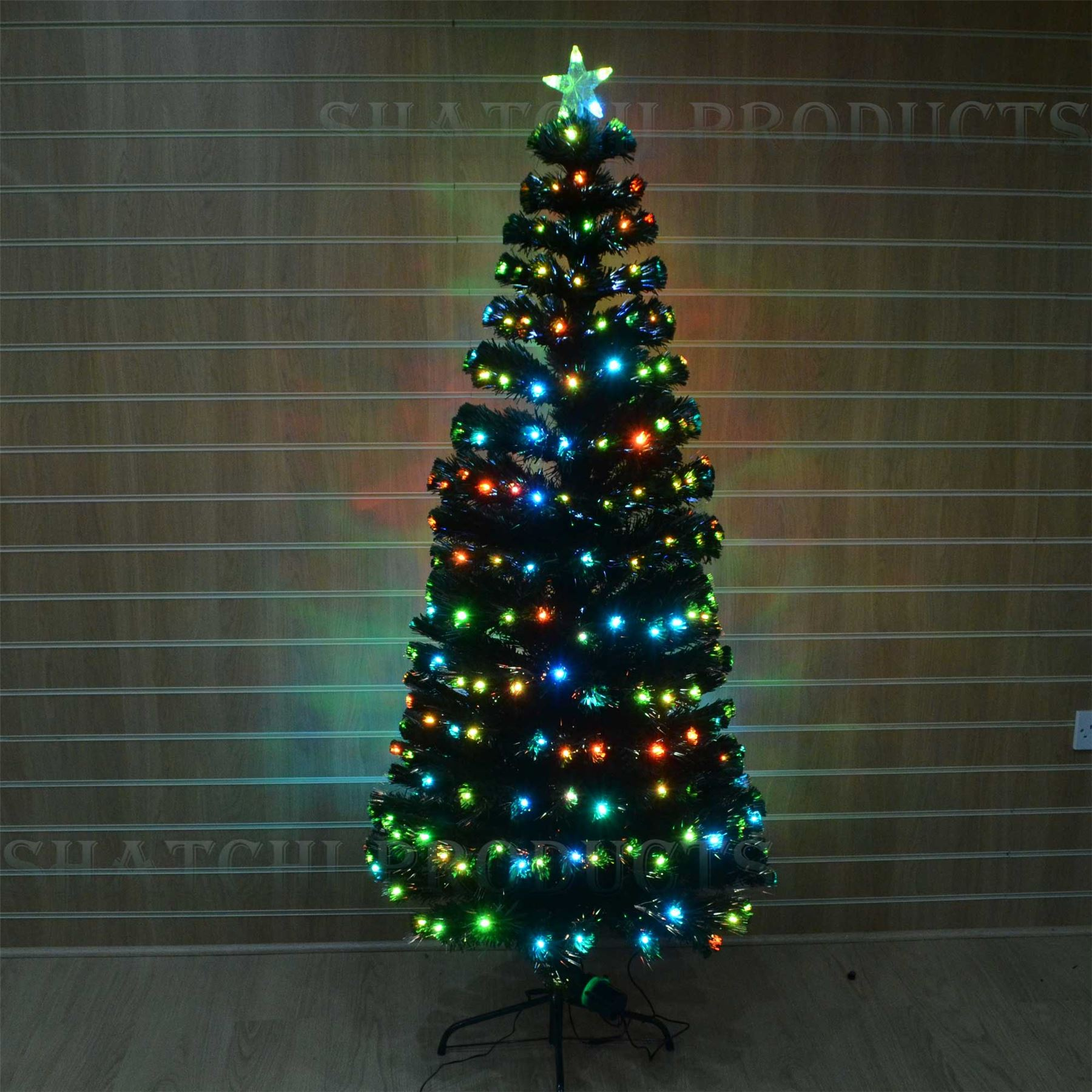 Fibre Optic Christmas Tree LED Lights Pre-Lit Artificial ...